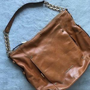 Michael Kors Tan Leather Hobo Shoulder Bag Gold